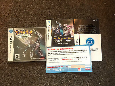 *no Game* Pokemon Diamond Version Case Box & Instructions Only Nintendo Ds!