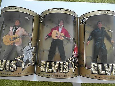 1993 Hasbro Collector Edition Elvis Presley Doll Set Of 3 Nib