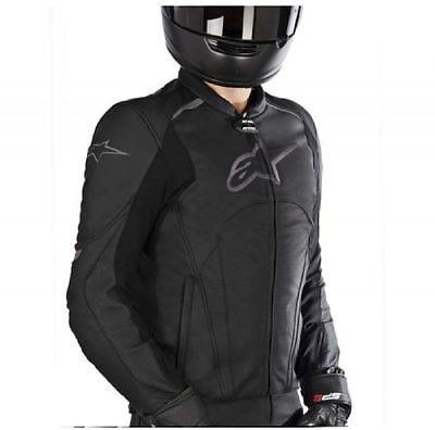 Giacca da moto in pelle Alpinestars Avant perforated nero
