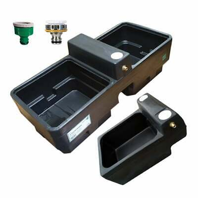 Titan Water Trough plus Adaptor for use with a Hosepipe - Choice of Fitting Type