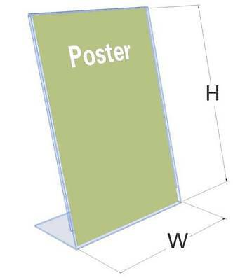 A3 A4 A5 A6 A7 Acrylic Poster Menu Holder Perspex Leaflet Display Stands