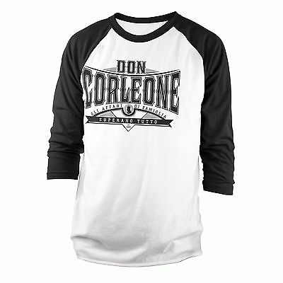 Officially Licensed Don Corleone Superano Baseball Long Sleeve T-Shirt S-XXL
