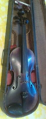 Old Antique 4/4 Violin, Grafted, One piece Back, Rough Case