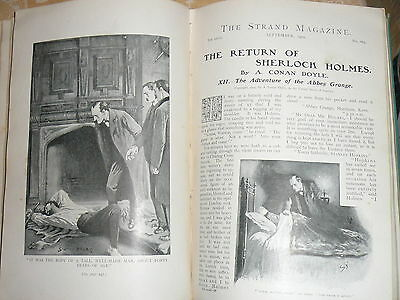 The Return of Sherlock Holmes 1st edition hard back in The Strand Magazine.