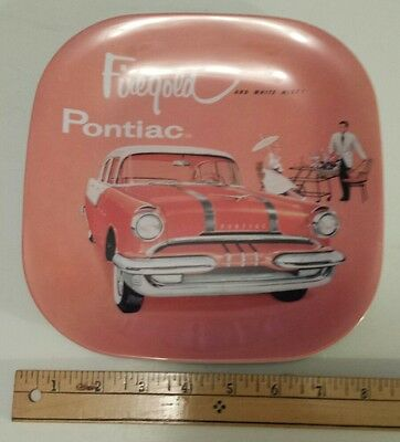 """Evolution  """"1955 Pontiac Firegold And White Mist"""" Advertising Plate - China Made"""