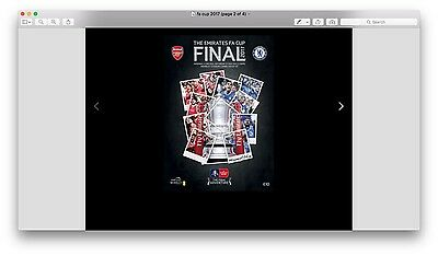 OFFICIAL 2017 FA CUP FINAL PROGRAMME - ARSENAL v CHELSEA