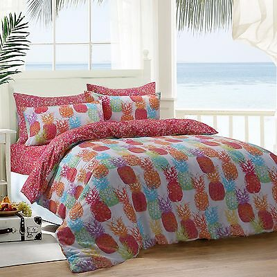 Pineapple Fruits Reversible Quilt Duvet Cover Bedding Set And Pillowcases