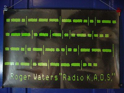 ROGER WATERS Record Store Promo Poster RADIO KAOS 24x36 EXCELLENT CONDITION