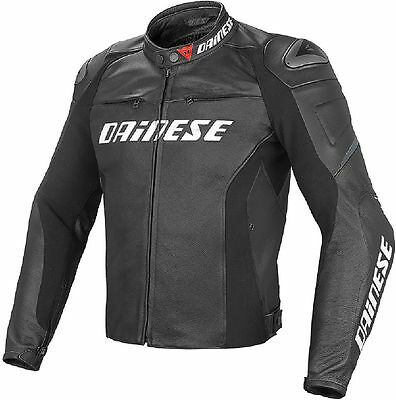 Giacca in pelle da moto Dainese Racing D1 Nero