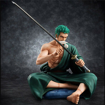 Anime One Piece POP Roronoa Zoro Sitting Limited 1/8 PVC Figure Figurine 13cm NB