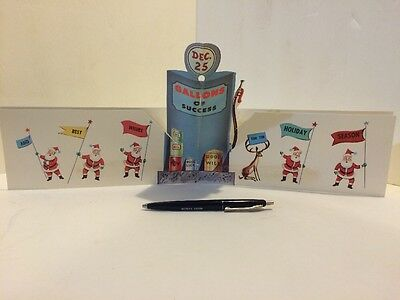 Exxon Gas Advertising Christmas Card Pop-up Pen Vintage