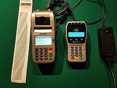 First Data FD100ti AND FD35 with EMV terminal credit card machine