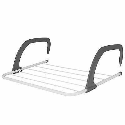 Folding Radiator Airer Towel Clothes Dryer Drying Laundry Rack Rail Holder 5 Bar