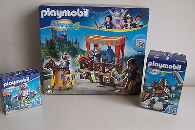 Playmobil Super 4 Bundle 6694, 6695, 6698 Kingsland Knights Bundle, 3 sets, BNib