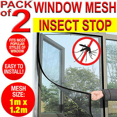 2X Large Black Window Screen Mesh Insect Net Fly Bug Mosquito Protection Door