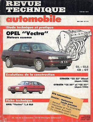 Revue Technique Automobile - Opel Vectra  Essence - N° 515 - 05/1990 - 122 pages