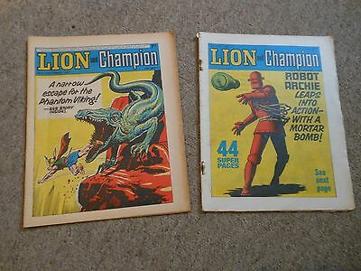 LION & CHAMPION COMIC 23/9/67 + one free (2/7/6)