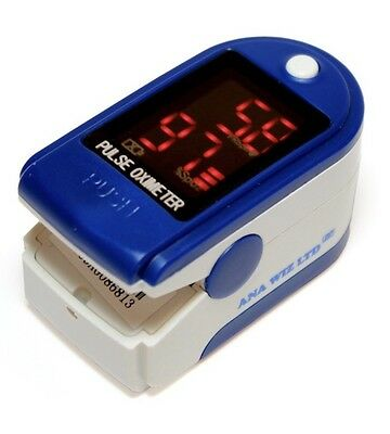 Finger Pulse Oximeter With LED Display(includes Carrycase, Lanyard)
