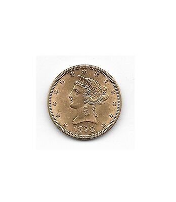 1898 Very Clean $10 Dollar Liberty Eagle Gold Coin Beautiful! - Free Shipping