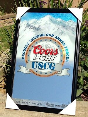Coors Light U.S Coast Guards Armed Forces Military Beer Bar Mirror