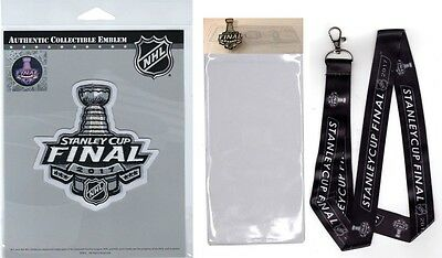 2017 Stanley Cup Final Patch With Nhl Lanyard / Pin & Ticket Holder Ships Now!!