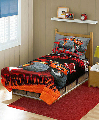 "Blaze and the Monster Machines ""Vroooom!"" 4-Piece Toddler Bedding Set"