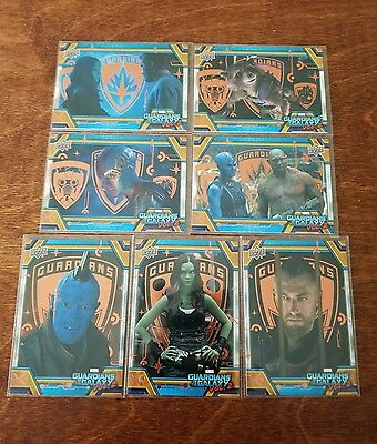 2017 UD Guardians of the Galaxy Vol.2 (7 card) SP Bronze Foil LOT All Different!