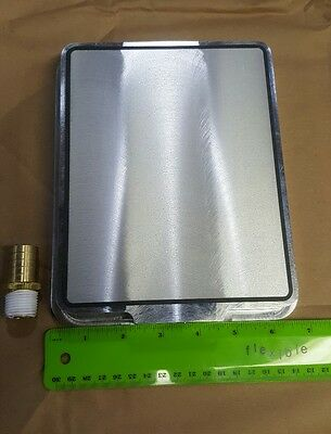 "Vacuum Table, MetaPor (sintered Aluminum), for CNC Milling, 6.75"" x 8.25"""