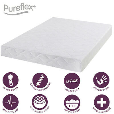 Infusion memory foam quilted panel mattress - Roll up - 3ft single - 6 inches
