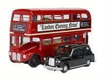 London Bus and Taxi Set OO HO scale Oxford Die-cast LD004