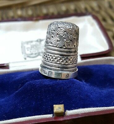 Antique Sterling Silver Thimble, 1912, Birmingham, Fully Hallmarked