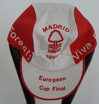 Nottingham Forest Vintage Memorabilia: 1980 European Cup Final Madrid Cap