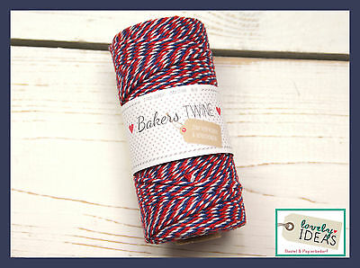 (0.09€/m) Baker's Twine AIRMAIL 90m Roll Bakers Cord Craft cord