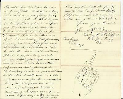Civil War Letters: NY 6th Marched Where Stonewall  Jackson Said to be