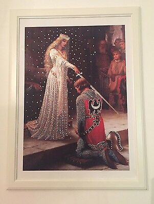 """THE ACCOLADE. Art. Reproduction 20""""x 27"""" PRINT-CANVAS With The White Frame"""