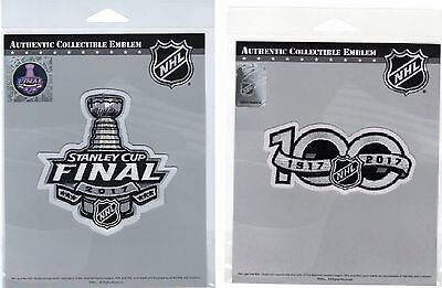 Penguins Predators 2017 Stanley Cup Final Nhl 100Th Anniversary Two Patch Set