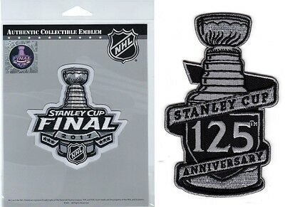 2017 Nhl Stanley Cup Final Jersey Patch & 125Th Anniversary Two (2) Patch Set