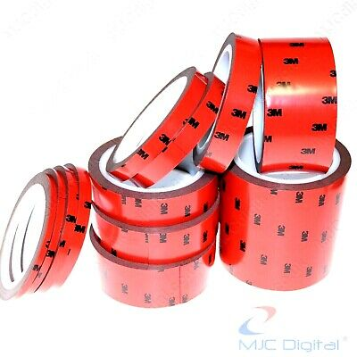 3M 5 6 7 8 10 12 15 20 25 30 40 50 100mm Auto Acrylic Double Sided Adhesive Tape