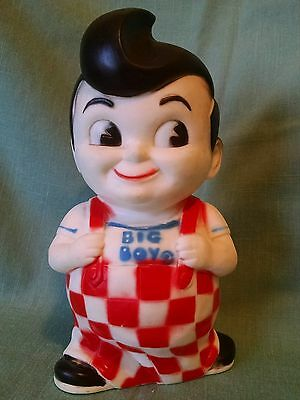"Vintage Shoney's / Bob's Big Boy 9"" Vinyl Bank - Great Condition !"