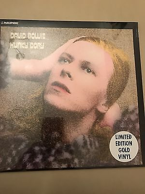 "David Bowie - Hunky Dory Gold Lp 12"" Vinyl Record Rare 1000 Copies Sold Out"