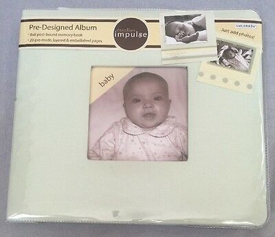 Colorbok Pre-Designed Baby Album, NEW!  20 Pages Photo Memory. Free Shipping!