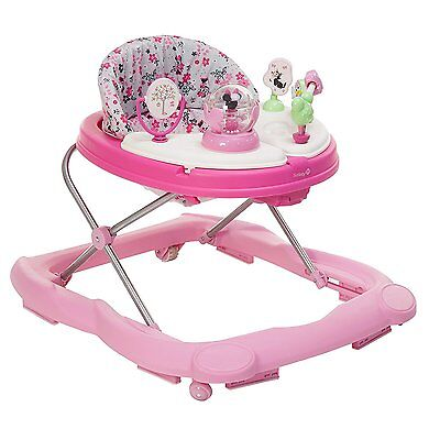 Disney Minnie Mouse Music Lights Girls Walker Baby Pink Toys Snack Tray