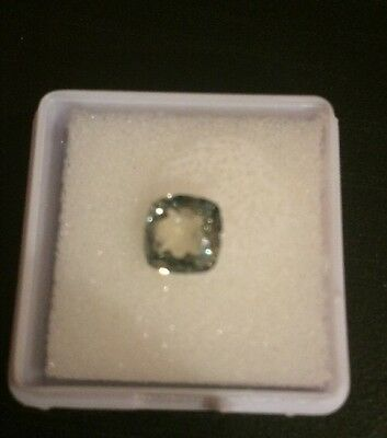1.29CT  6.5x6.5mm    Green Color Cushion  Cut Loose Moissanite