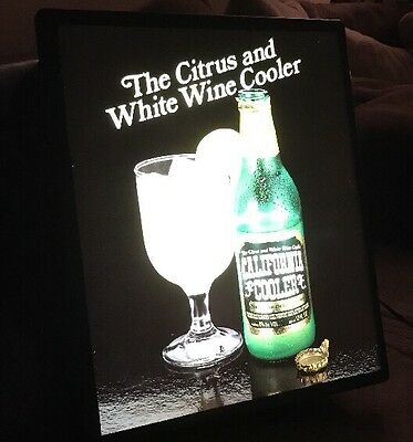 Vintage 1980's California Coolers White Wine Coolers Bar Light Sign Working!!!
