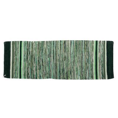 "Lovable Green Scandinavian Handwoven Rug - 2'6"" X 7'5"""
