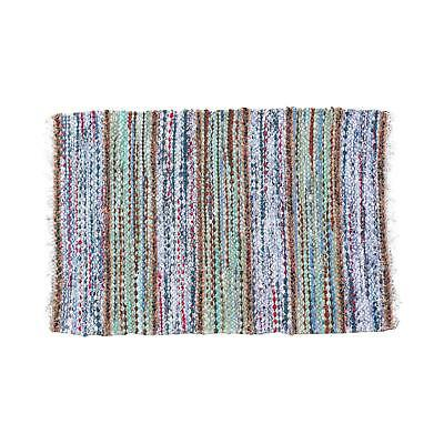 "Cute Swedish Handwoven Rug - 2' 11"" X 1' 11"""