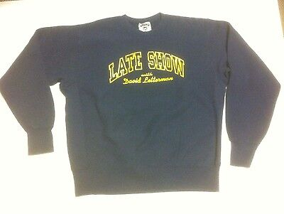 Vintage Late Show with David Letterman Sweatshirt XL 90's quality thick sweater