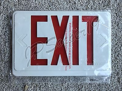 Lithonia Lighting  Red Exit Sign Plate Fits ECR LED M6 Contractor Select Light