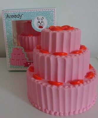 Areedy Jumbo 3 Layer Fruit Cake Squishy SLOW RISING Scented Ships From The USA
