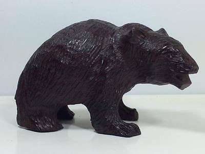 Antique Swiss/German black forest wooden grizzly bear carving ?